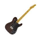 Fender Modern Player Telecaster Thinline Deluxe Electric Guitar Black Transparent