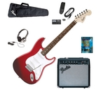 Fender Squier Affinity Strat Special Metallic Red Electric Guitar Pack with Fender Frontman amp