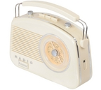 Steepletone Brighton 1950's Retro Style Portable Radio Beige