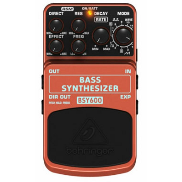 behringer bsy600 bass synthesizer guitar effects fx pedal stomp box bsy 600. Black Bedroom Furniture Sets. Home Design Ideas